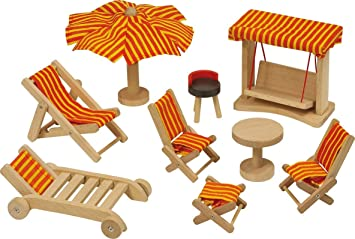 Great GoKi Dollsu0027 House Garden Furniture