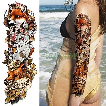 5pcs Impermeable Etiqueta engomada del Tatuaje Flor de la Cabeza ...