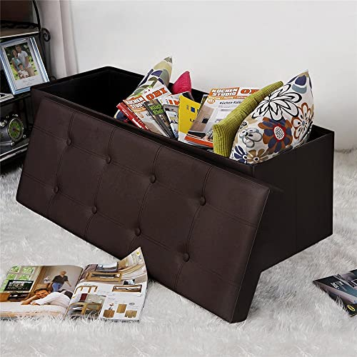 Folding Storage Ottoman Bench