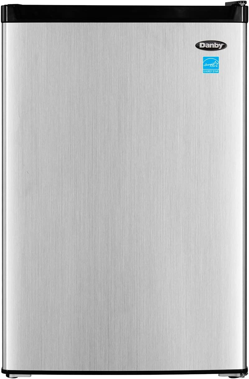 Danby DCR045B1BSLDB-3 4.5 cu. ft. Compact Refrigerator With True Freezer, Steel