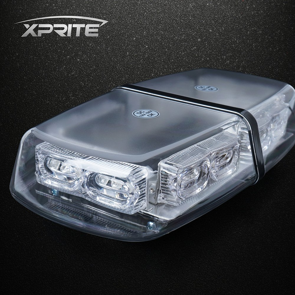 Amber Xprite High Wattage Gen 3 Security Law Enforcement Emergency LED Mini Roof Top Strobe Light Bar with Magnetic Base