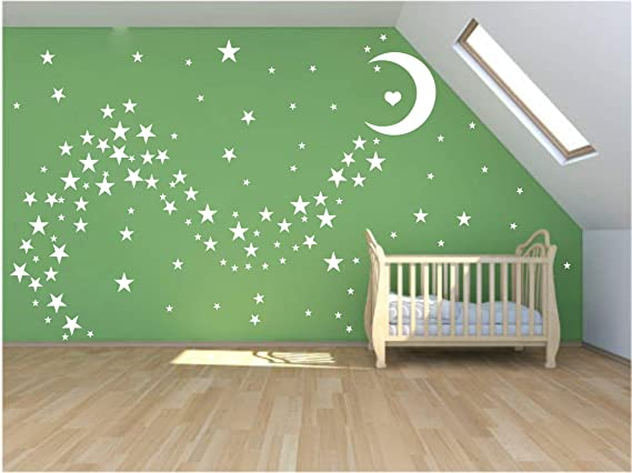 39pcs DIY Star Wall Stickers Five-pointed Star Removable Home Wall Decorative FW