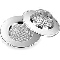 Anpro 3PCS Filtre à Évier Filtre de vidange en Acier Inoxydable de 7.7cm,Empêcher des Débris Obstrués pour Évier de Cuisine,Bain lavabo, Baignoires