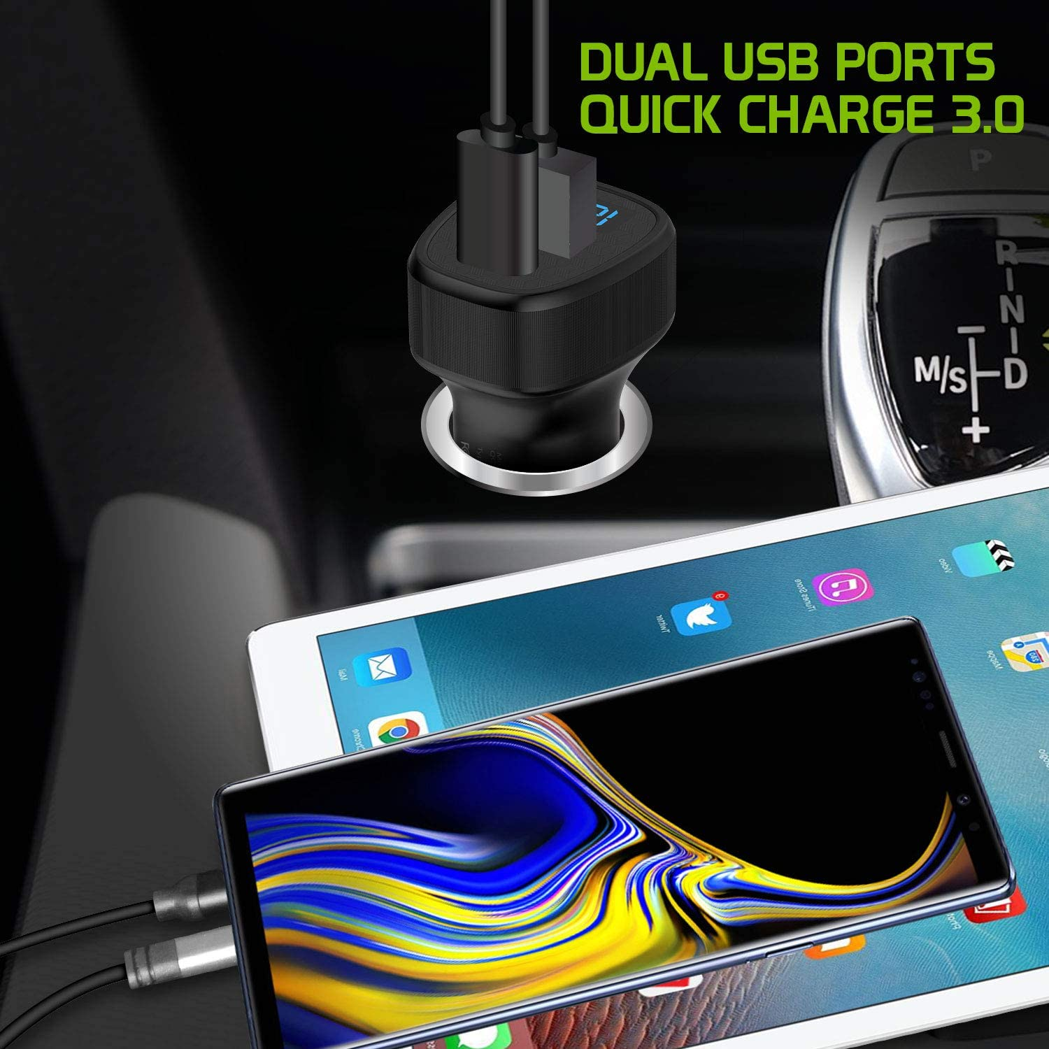 S20 Ultra S10 S10 Google Pixel 4XL 4 3 XL Cellet Dual USB Car Charger Universal High Power 36 Watt 2 Ports USB A /& USB C Quick Charger Compatible for iPhone 11 Pro 11 Pro Max Samsung Galaxy S20 S20