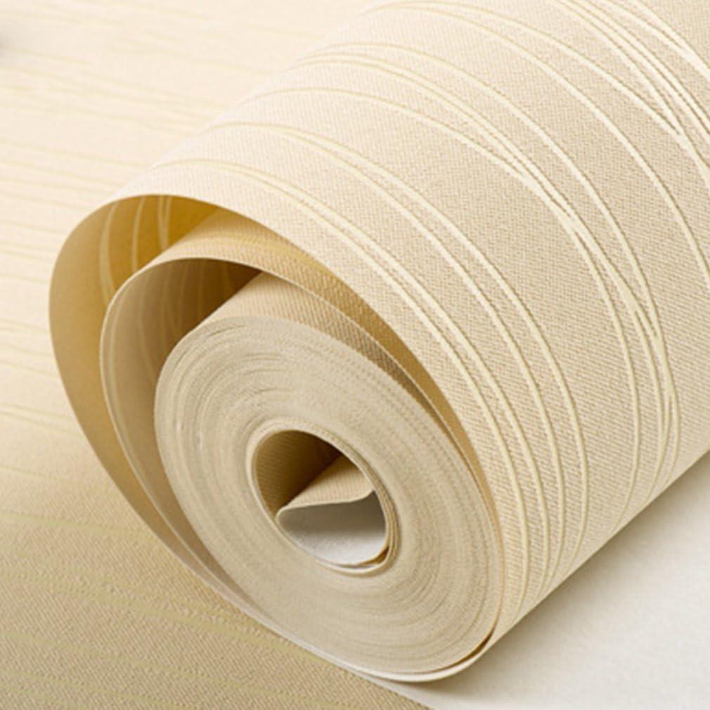 JICHUI Inicio de la raya del papel pintado dormitorio de papel de pared Revestimiento de paredes rollo Inicio Etiqueta