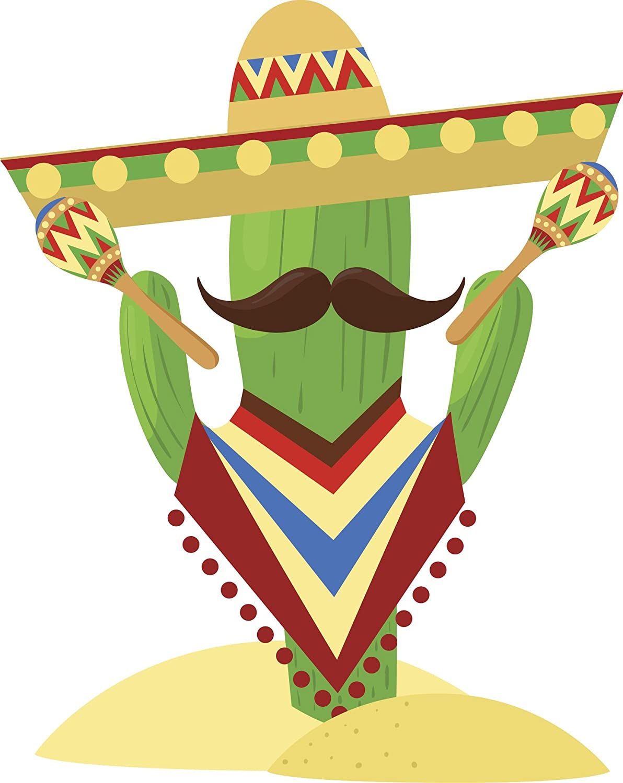 Amazon Com Funny Silly Party Fiesta Cactus Cartoon Vinyl Sticker All Sizes Automotive