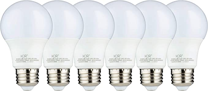 A19 Non-Dimmable LED Bulb 9W 60W Equivalent E26 3000K Warm White 800 Lumens-10PK