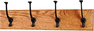 product image for PegandRail Solid Oak Wall Mounted Coat Rack - Large Black Mission Hooks - Made in The USA (Burnt Orange, 20 x 4.5 X-Wide - 4 Hooks)
