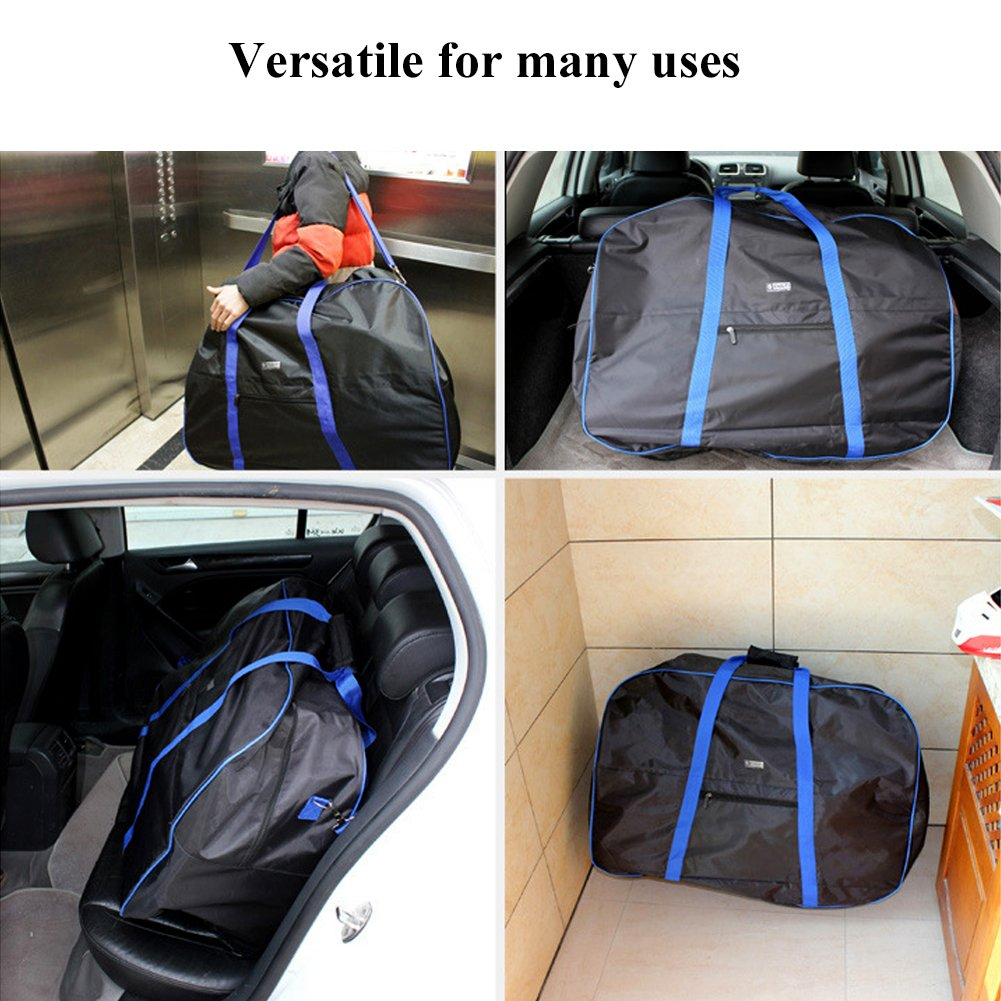 VGEBY Bike Travel Cases Transport Carrying Bag with Saddle Bag for 14-20 inch Foldable Bicycle by VGEBY (Image #5)