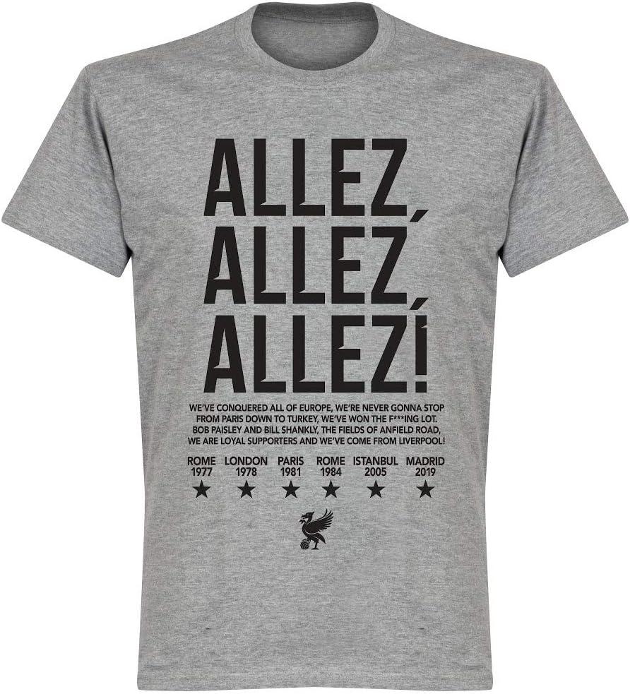 Retake Liverpool Allez Allez Allez T-Shirt Grey