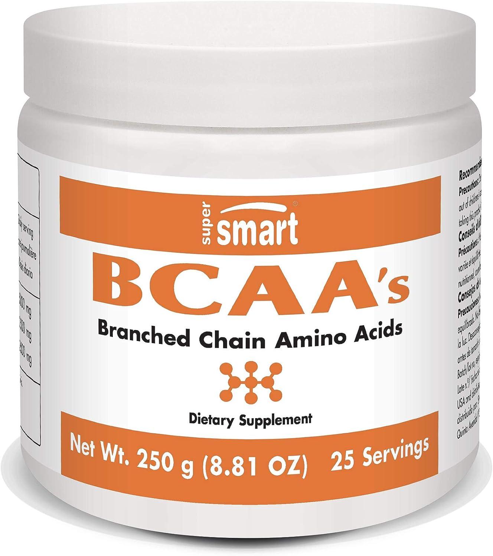 Supersmart MrSmart - Aminoácidos - Tres aminoácidos de cadena ramificada BCAA en la proporción ideal de 2:1:1. 500 mg, 120 cápsulas. Ideal para los entusiastas del deporte.: Amazon.es: Salud y cuidado personal