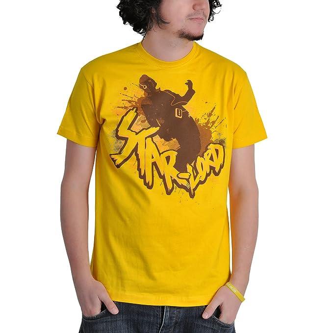 af5cd6646 Guardianes de la Galaxia - Camiseta comic style con motivo de Star Lord -  Licencia oficial - Amarillo - S  Amazon.es  Ropa y accesorios
