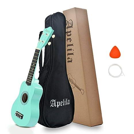 ATEU - Ukelele soprano de Apelila de 53,34 cm, 4 cuerdas ...