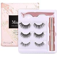 3-Pairs AsaVea Magnetic Eyeliner and Magnetic Eyelash Kit