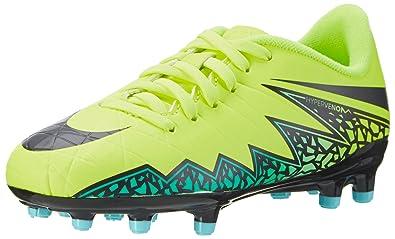 Nike Unisex Kids Jr Hypervenom Phelon Ii Fg Football Boots, Yellow  (Volt/Hyper