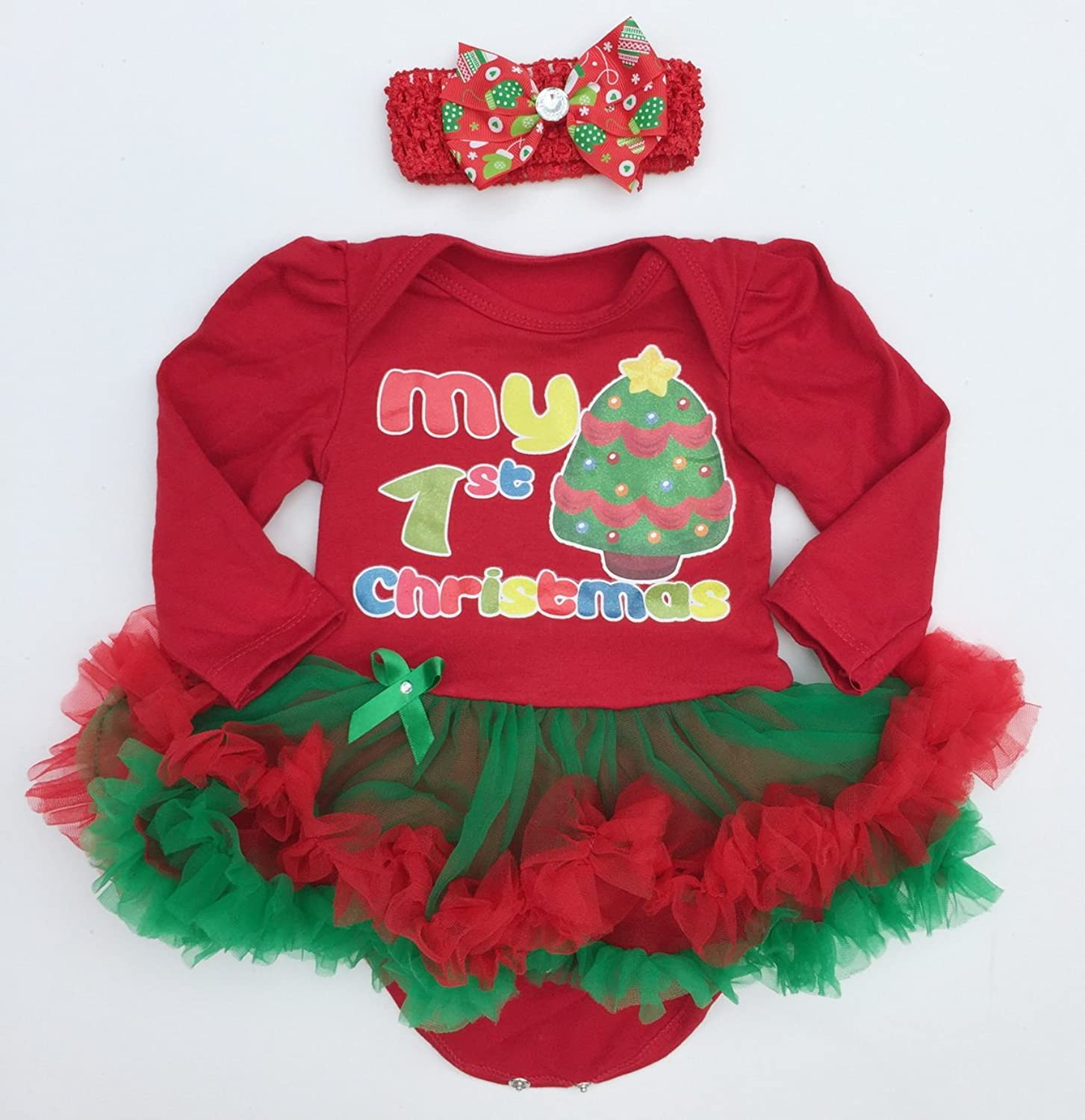 Amazon Baby Girl Xmas Outfit Infant Newborn My First Christmas