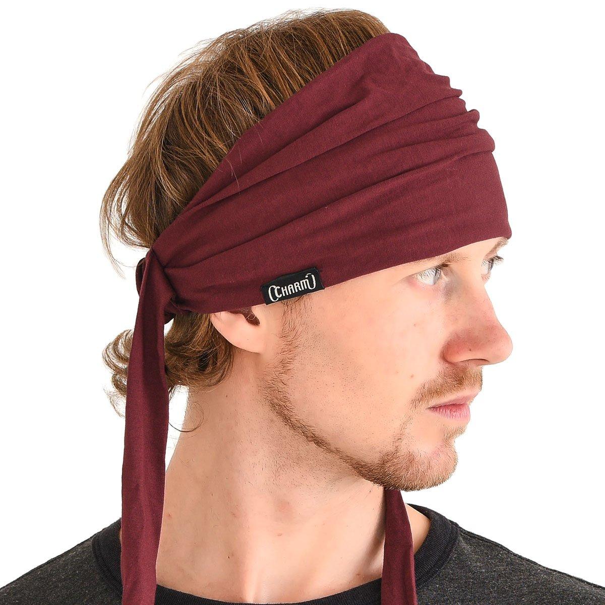 Casualbox   Pre-tied Headband Boho Hair Band Summer Mens Womens Head Wrap Hippie 4589777963917