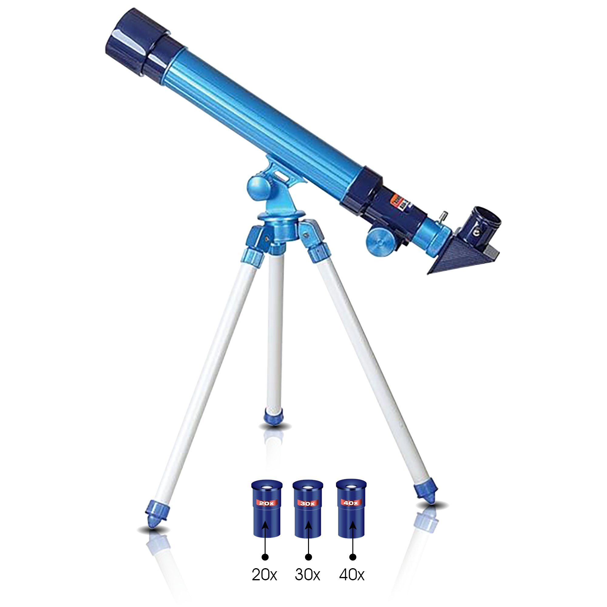 Telescope for Kids by ArtCreativity - Set Includes 3 Magnification Lenses, Diagonal Mirror, and Tripod Stand - Easy to Focus - Great Children's Educational Science - Microscope Toy for Boys and Girls by ArtCreativity