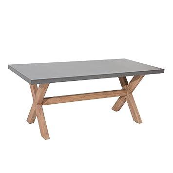 Design Esstisch Cement Akazie Massivholz 180cm Tisch Esszimmertisch
