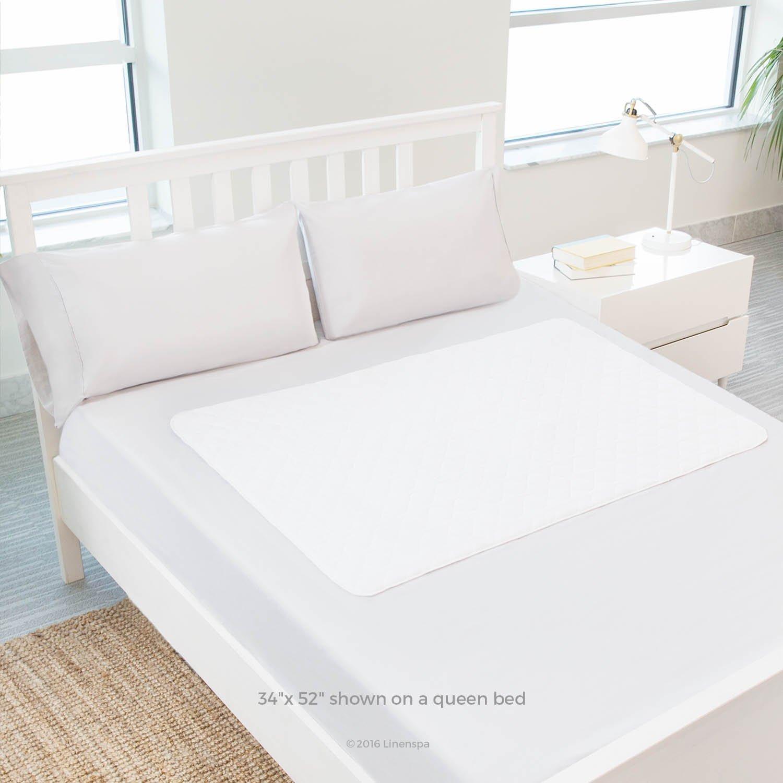 amazon com linenspa 34 x 52 non skid waterproof sheet protector
