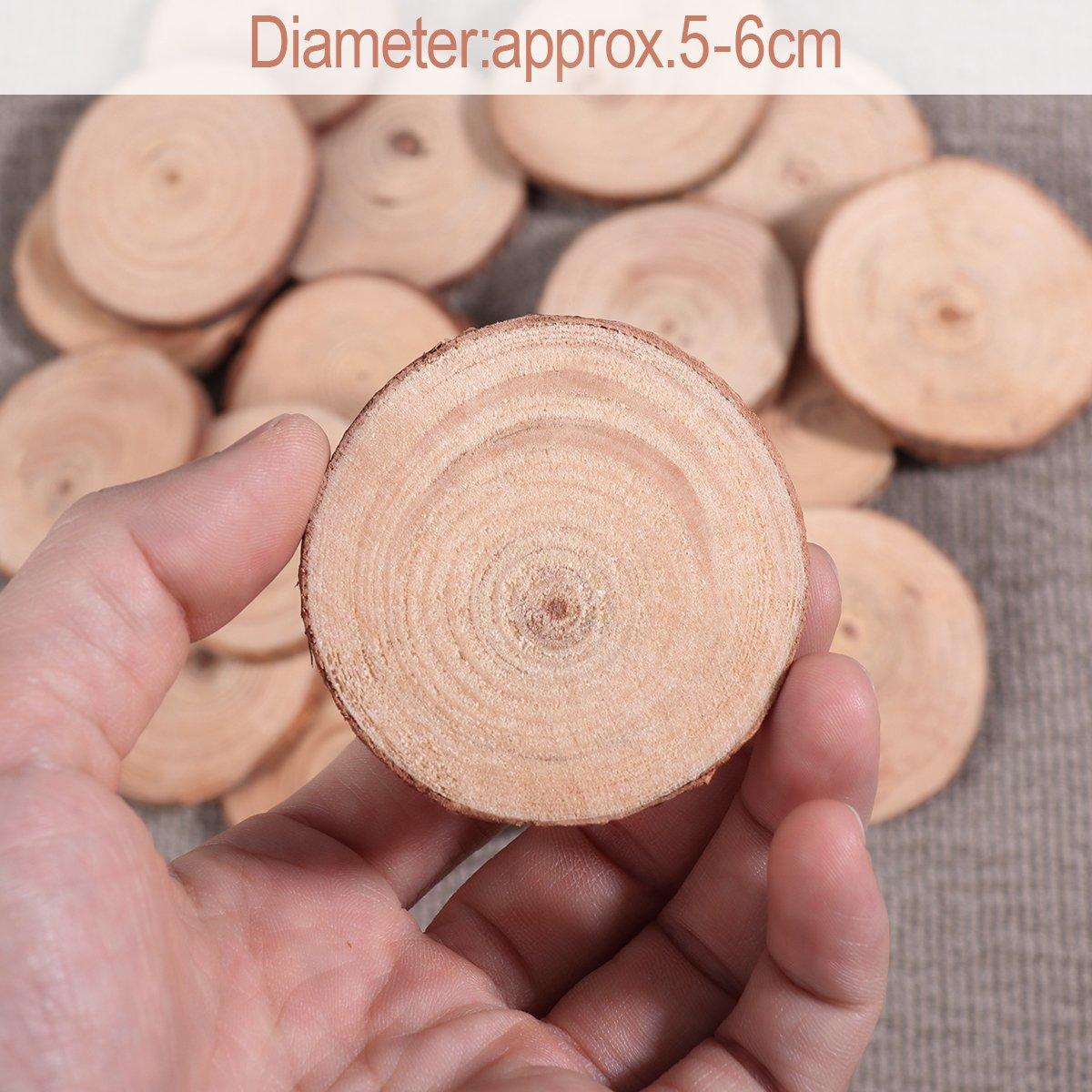 VORCOOL 20Stk Round colore legno vetro globalaffairs-legno 5-6 cm