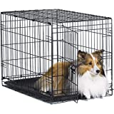 """New World 30"""" Folding Metal Dog Crate, Includes Leak-Proof Plastic Tray; Dog Crate Measures 30L x 19W x 21H Inches, for…"""