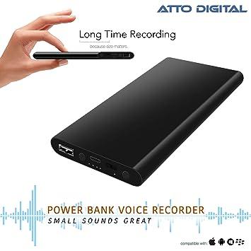 Grabadora activada por voz - Gran duración de la batería | 14 días de registro continuo | 5000mAh: Amazon.es: Electrónica