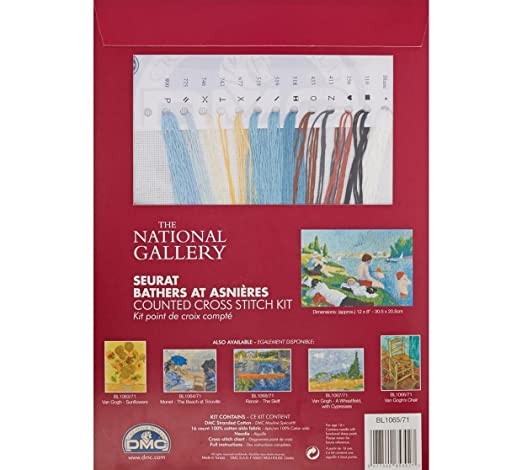 The National Gallery Counted Cross Stitch Kit Bathers at Asnieres
