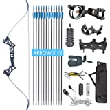 XQMART XGeek Archery Takedown Recurve Bow Package R3 Ready to Shoot Archery Set for Bow