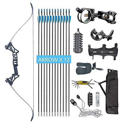 Amazon Com Xqmart Xgeek Archery Takedown Recurve Bow Package R3