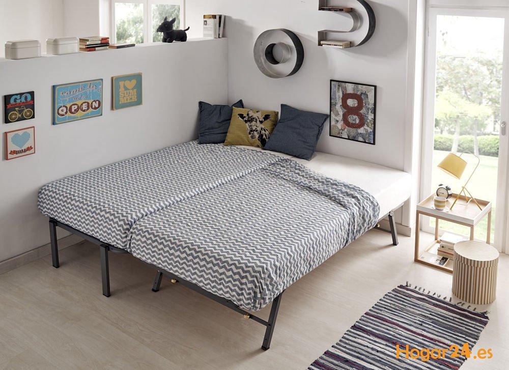 HOGAR24 ES Cama Nido con 2 Somieres Estructura Reforzada Doble, Acero, 80x190 cm: Amazon.es: Hogar
