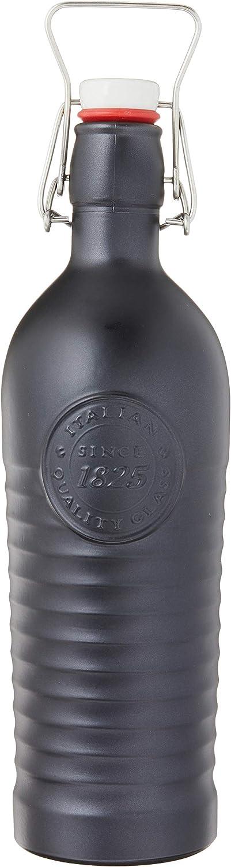Bormioli Rocco Officina 1825 Charcoal Glass Bottle, 42oz