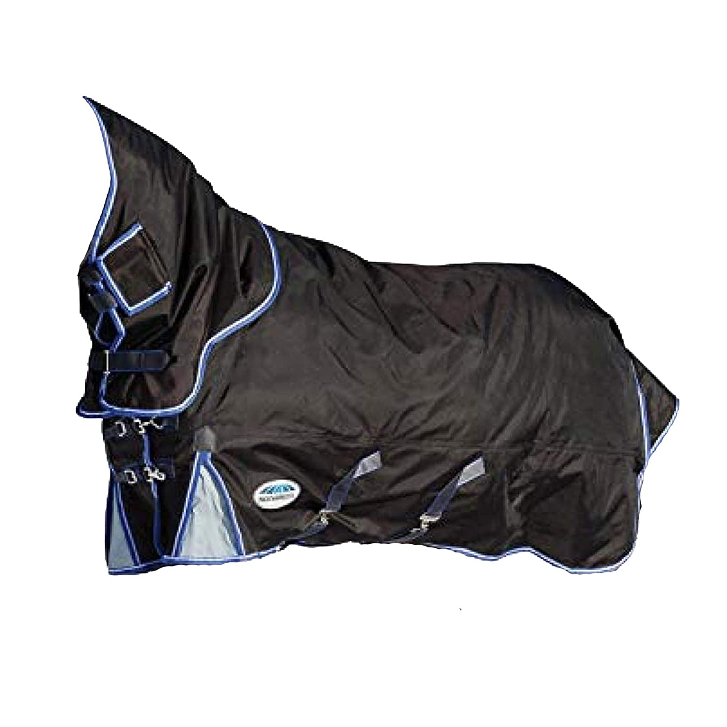 Charcoal bluee White 6 ft 6 Charcoal bluee White 6 ft 6 Weatherbeeta Comfitec Heavy Ultra Cozi Detach-a-neck Turnout Rug
