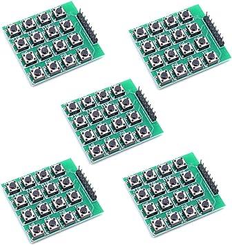 Willwin - 5 teclados 4 x 4 Matrix 16 para Arduino