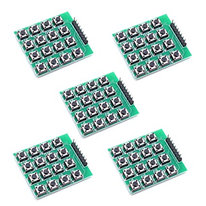 aff9bb5d5df Image Unavailable. Image not available for. Color: Willwin 5pcs 4x4 Matrix  16 Keypad Keyboard Module 16 Button Mcu for Arduino