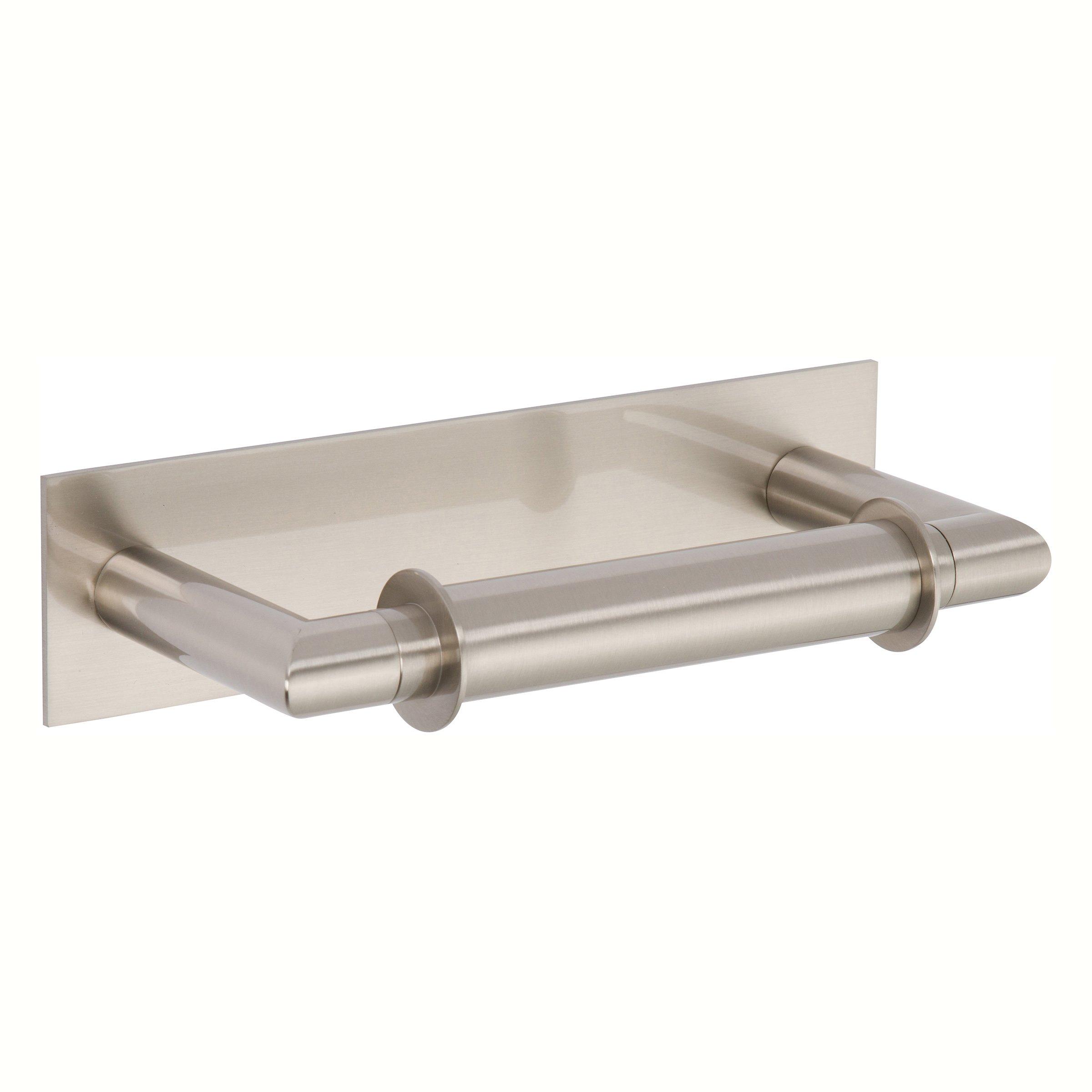 Ginger 2808/SN Surface Double Post Toilet Tissue Holder, Satin Nickel