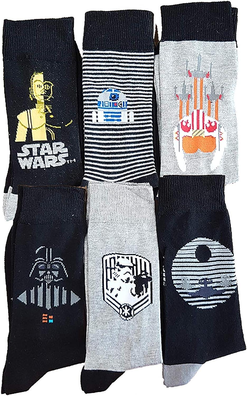 Disney socks - Medias de fútbol - para hombre Pack de 6 Asst2 39/42: Amazon.es: Ropa y accesorios