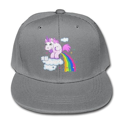 a9a31f3a0fe Trucker Hat Solid Color Baseball Caps Boy Rainbow Unicorn Poop Glitter Girls  Adjustable
