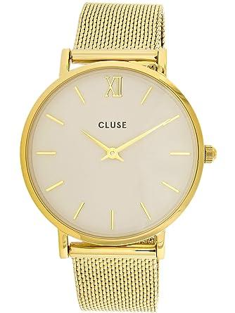 Cluse Reloj Analógico de Cuarzo para Hombre con Correa de Acero Inoxidable - CL30010: Cluse: Amazon.es: Relojes
