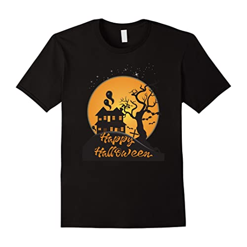 Happy Halloween Shirt - Spooky Haunted House T-Shirt