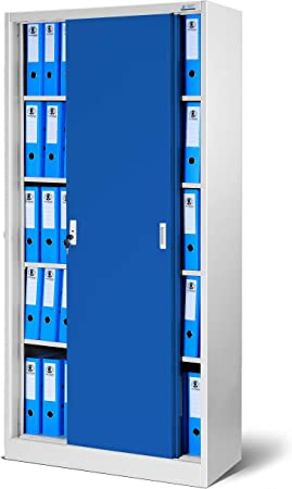 Jan Nowak by Domator24 SD001 SD001-Armario de Oficina con Puertas correderas (Chapa de Acero, estantes