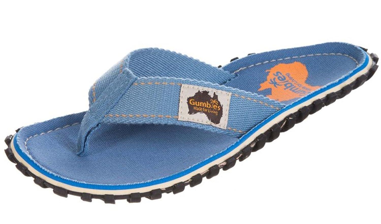 Gumbies Damen Zehentrenner - Rosa/Blau Schuhe in Uuml;bergrouml;szlig;en  37|Light Blue