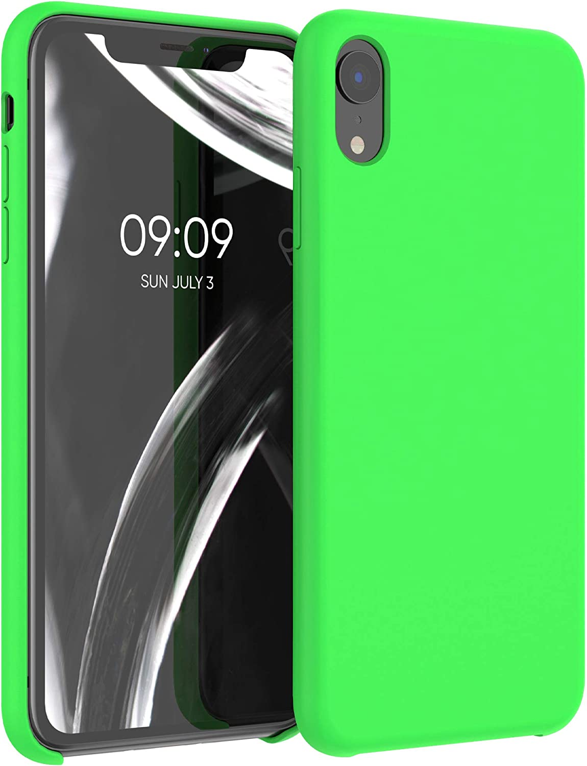 kwmobile TPU Silicone Case Compatible with Apple iPhone XR - Case Slim Protective Phone Cover with Soft Finish - Lime Green