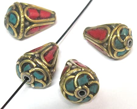 12mm Tibetan Black White Brass Bead Round Brass Nepal Beads Indonesian Pendant Bead DIY Jewelry Making Bead Boho Ethnic Beads Findings Gypsy