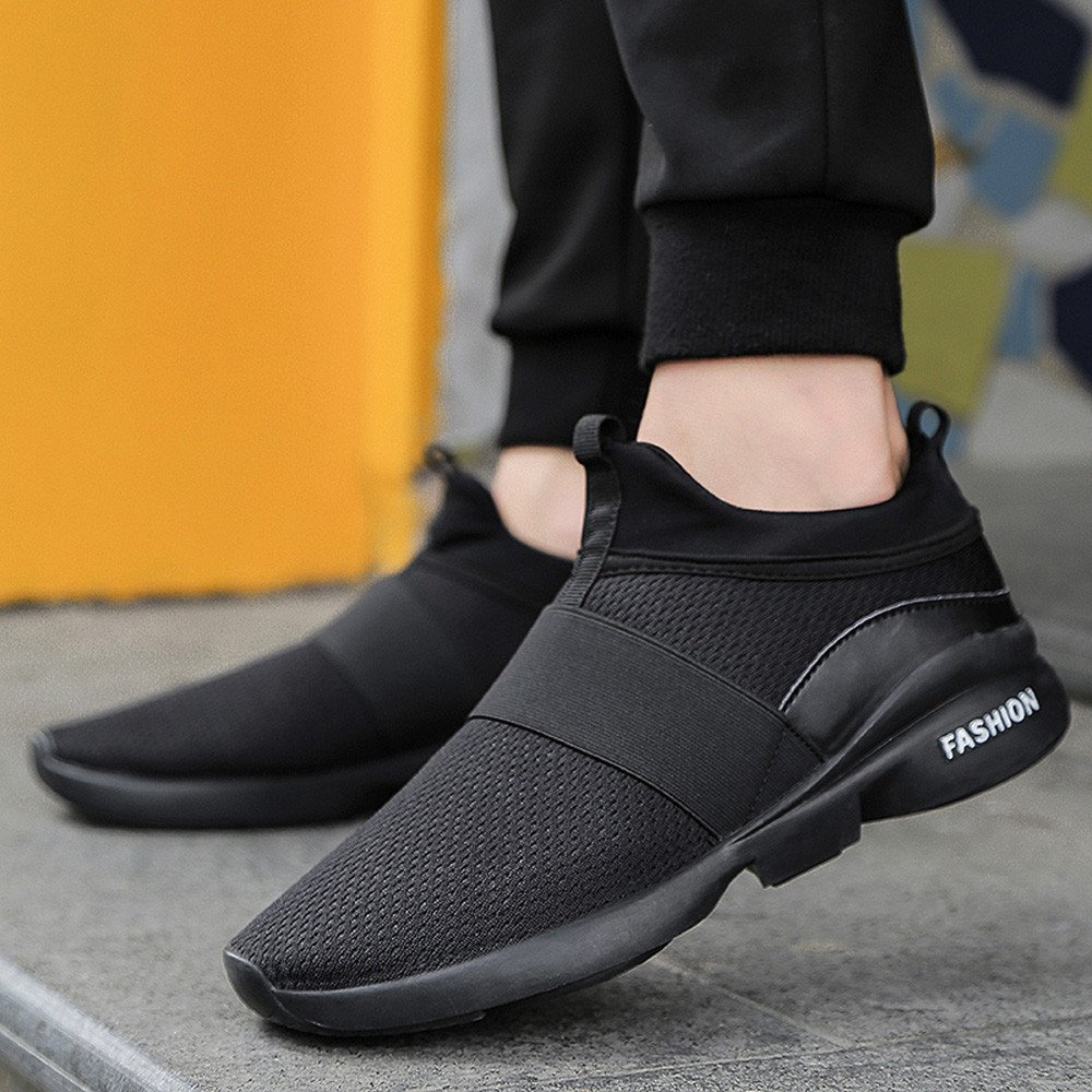 Serzul Mens Summer Comfortable Sneakers Beathable Mesh Shoes Wild Slip-on Casual Shoes