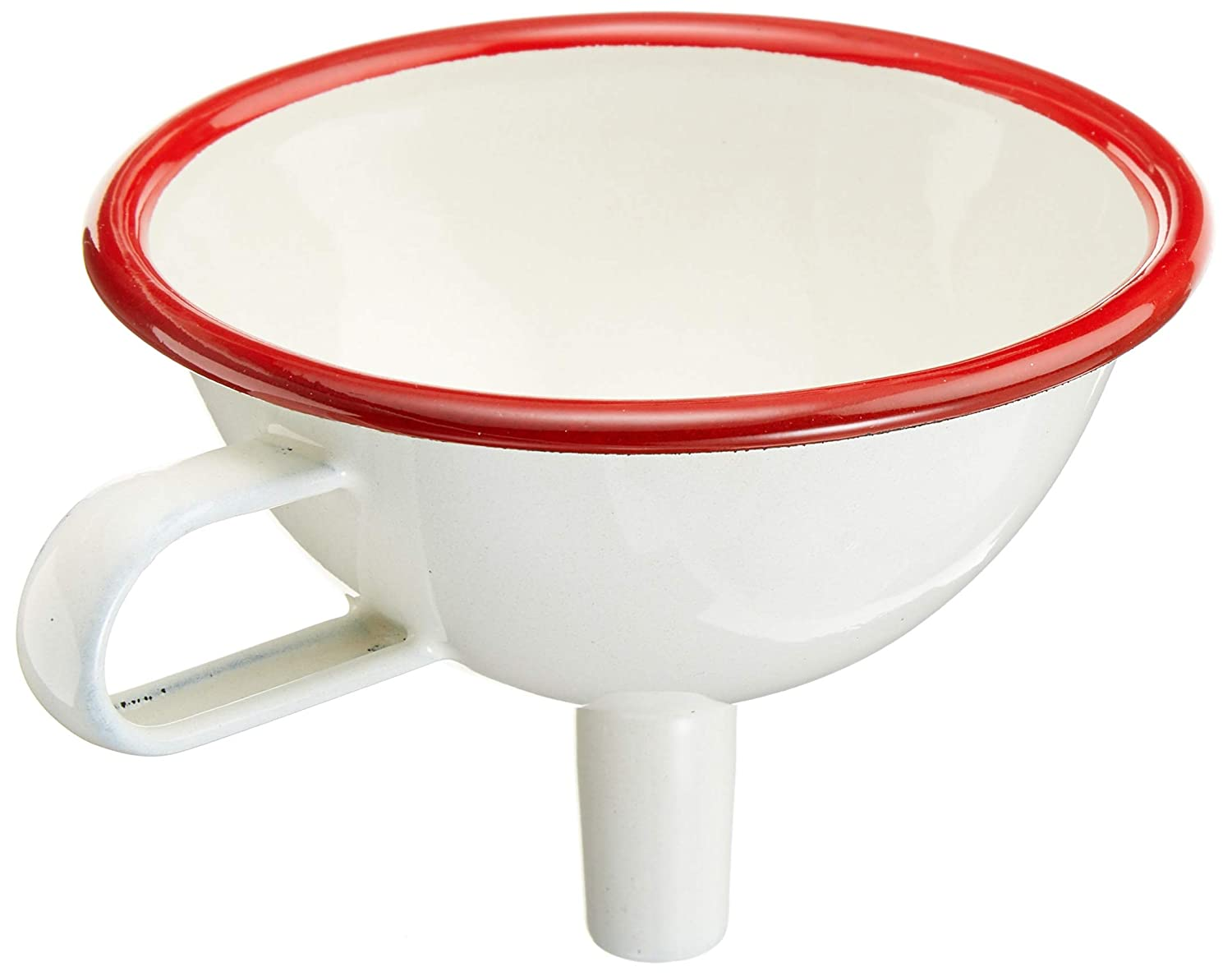 Zenker 682653  Funnel, White and Red Enamel, 13  x 11  x 8  cm 13 x 11 x 8 cm FACBX