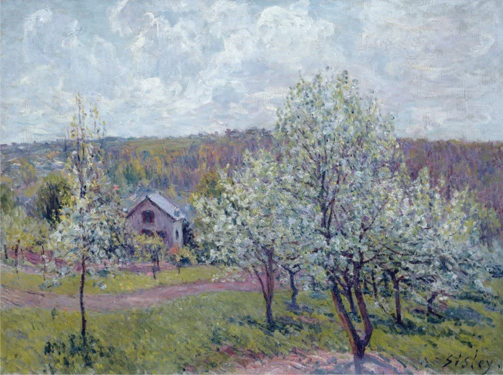 The Museum Outlet - Spring in The Environs of Paris, Apple Blossom, 1879 - Poster Print Online Buy (30 X 40 Inch)