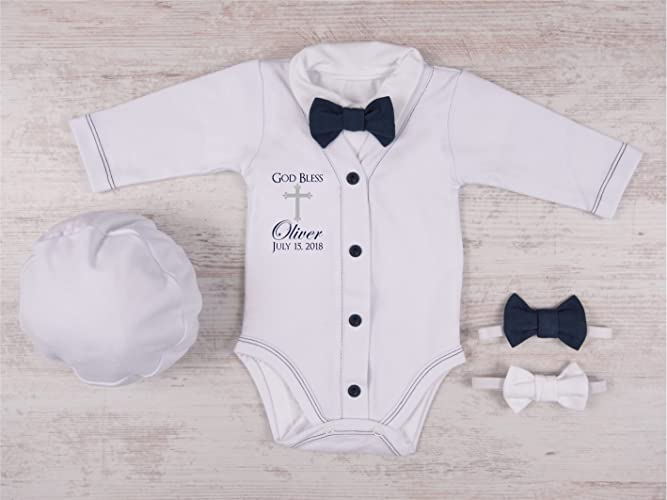 Amazon.com: Baby Boy Baptism Outfit: Handmade