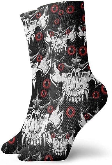 Huabuqi Demon Skull Small_4139 Calcetines de fantasía para mujer ...