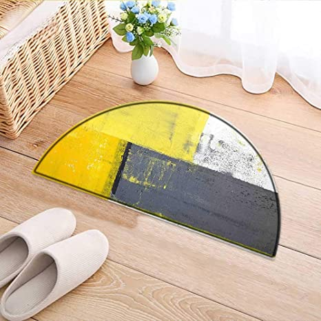 Amazon.com : Kitchen Rugs Floor mats Yellow Street Art ...